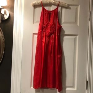 Lovely red silk dress